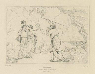 Tempest: Prospero, Ferdinand, Miranda, &c., Act IV, scene I [graphic] / Wright del. ; Starling sc.