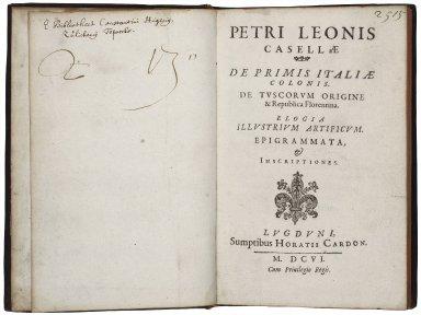 ... De primis Italiae colonis...