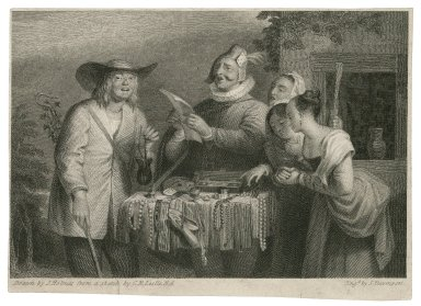 Winter's tale, act IV, scene 4 [graphic] / drawn by J. Holmes from a sketch by C. R. Leslie, R. A. ; engd by S. Davenport.