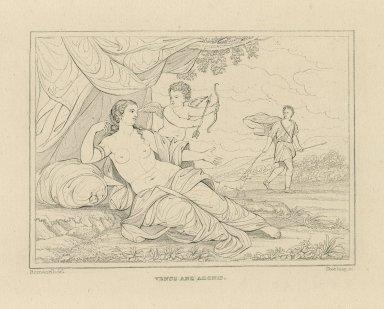 Venus and Adonis [graphic] / Romanelli, del. ; Starling, sc.