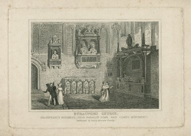 Stratford church : [graphic] Shakspeare's monument, Dean Balsall's tomb and Comb's monument.