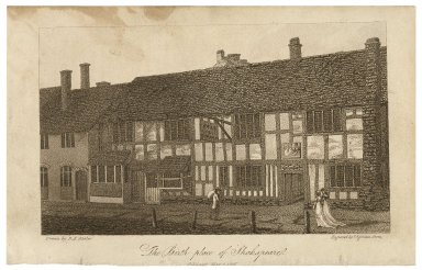 The birth-place of Shakspeare [sic] [graphic] / drawn by R.B. Wheler ; engraved by F. Eginton Birm.