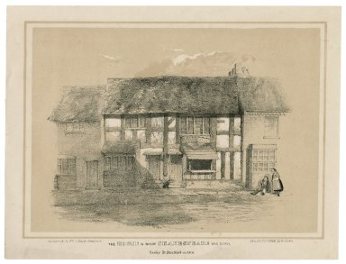 The house in which Shakespeare was born ... Stratford-upon-Avon [graphic] / drawn & printed by G. Rowe.