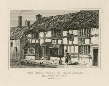 The birth-place of Shakespeare, Stratford-on-Avon ... [graphic].
