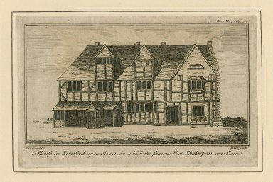 The house in Stratford upon Avon in which Shakespeare was born [graphic] / R. Green delin. ; B. Cole sculpt.