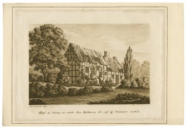 House at Shotery, in which Ann Hathaway ... resided [graphic] / Sam. Ireland delt.