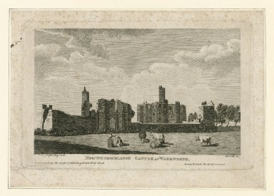 Northumberland's Castle at Warkworth [graphic] : Henry IV part the II, act I, scene I / Fras Grose, del. ; Birrell, sc.