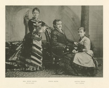 Edwin Booth, Mrs. Edwin Booth (Mary McVicker), and Edwina Booth (Mrs. I. Grossmann) [graphic].