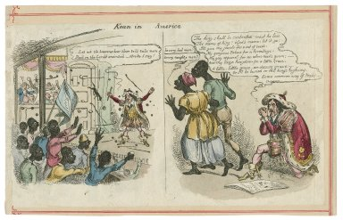 Kean in America [caricature of Kean's Shakespeare performance of Richard III] [graphic].