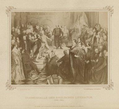 Ruhmeshalle der Englischen Literatur (1564-1864) [graphic] / W. Lindenschmit, inv.