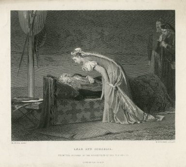 Lear and Cordelia [IV, 7] [graphic] / M. Stone, pinxt. ; W. Ridgway, sculpt.