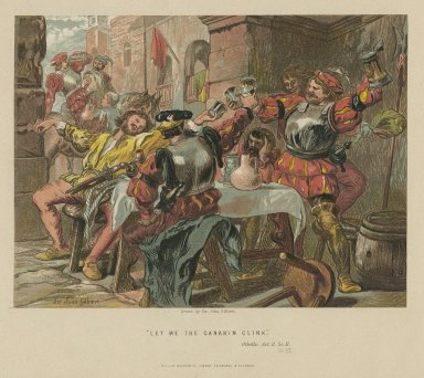 And let me the canakin clink ... Othello, act II, sc. 3 [graphic] / J. Gilbert, del. ; V. Brooks, litho.