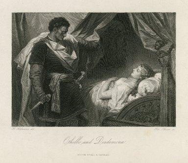 Othello and Desdemona [Othello, act V, sc. 2] [graphic] / H. Hofmann, del. ; Tob. Bauer, sc.