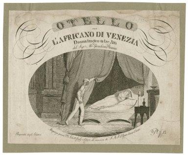 Otello ossia L'Africano di Venezia, drama tragico in tre Atti del Sigr Mo Gioachino Rossini [graphic] / Contgen sc.