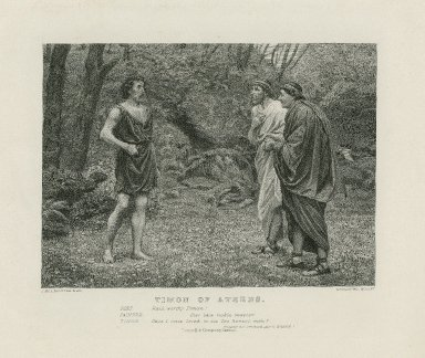 Timon of Athens, Poet: Hail, worthy Timon ... act V, scene 1 [graphic] / J. McL. Ralston, pinxt. ; G. Goldberg, sculpt.