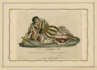 Mr. Kean as Richard the IIIrd, act 5th, scene last: Perdition catch thy arm [graphic].