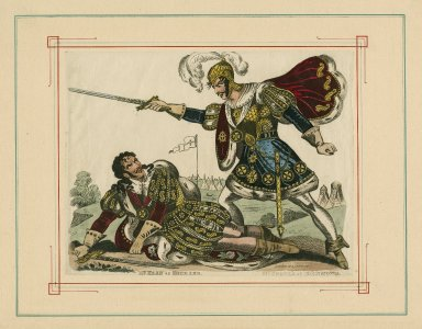 Mr. Kean as Richard, Mr. Cooper as Richmond [in Shakespeare's Richard III, act V, sc. 5] [graphic].