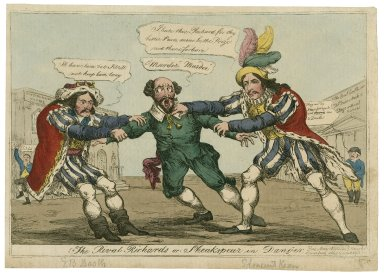 The rival Richards or Sheakspear [sic] in danger [graphic] / [William Heath, artist].