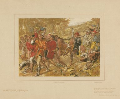 What shall he have that kill'd the deer? His leather skin, and horns to wear ... : as you like it, act IV, sc. 2 [graphic] / J. Gilbert, del. ; W. Brooks, litho.