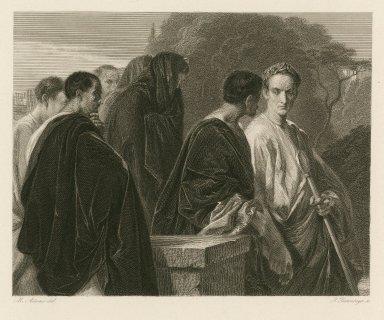 [Julius Caesar, act I, sc. II] [graphic] / M. Adamo del. ; I. Deininger, sc.