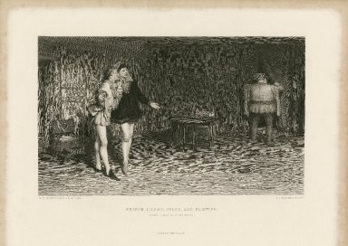 Prince Henry, Poins, and Falstaff, King Henry IV, first part [act II, scene 4] [graphic] / W.Q. Orchardson, A.R.A. pinxt. ; J.C. Armytage, sculp.