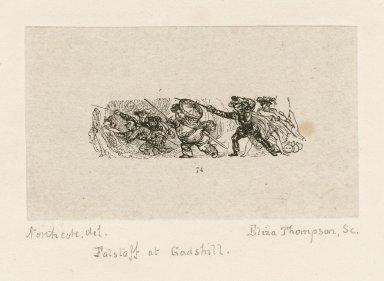 [Falstaff at Gadshill, King Henry IV, 1, act II, scene 2] [graphic] / Northcote del. ; Eliza Thompson sc.