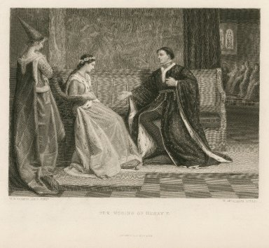 The wooing of Henry V, [King Henry V, act V, scene 2] [graphic] / W.F. Yeames pinxt. ; W. Greatbach sculpt.