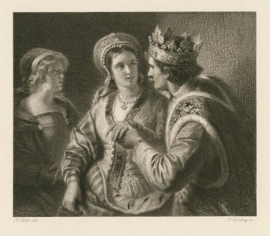 [Henry V, act V, sc. ii] [graphic] / F. Pecht del. ; G. Goldberg sc.