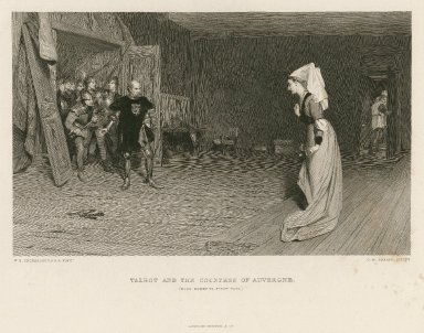 Talbot and the Countess of Auvergne (King Henry VI, first part) [act II, scene 3] [graphic] / W.Q. Orchardson, A.R.A. pinxt. ; C.W. Sharpe, sculpt.