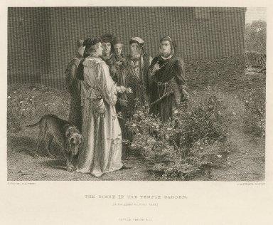 Scene in the Temple Garden ... [graphic] / J. Pettie, R.A. pinxt. ; F.A. Heath, sculpt.