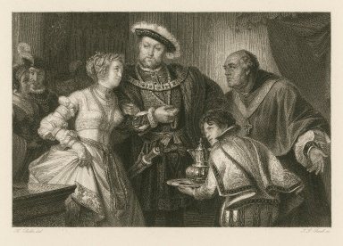 [Henry VIII, act 1, sc. iv] [graphic] / Fr. Pecht del. ; J.L. Raab sc.