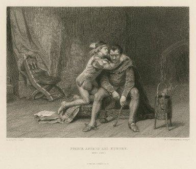 Prince Arthur and Hubert, (King John), [IV,1] [graphic] / L.J. Pott, pinxt. ; D.I. Desvachez, sculpt.