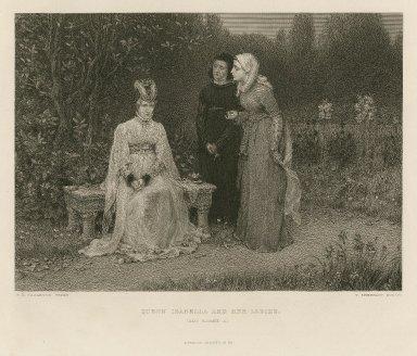 Queen Isabella and her ladies, (King Richard II) [III, 4] [graphic] / G. H. Boughton, pinxt ; T. Sherratt, sculpt.