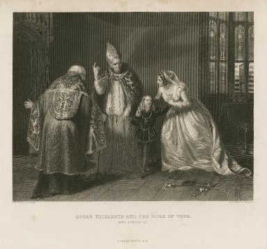 Queen Elizabeth and the Duke of York (King Richard III) [II, 4] [graphic] / E.M. Ward R.A., pinxt. ; H. Robinson, sculpt.