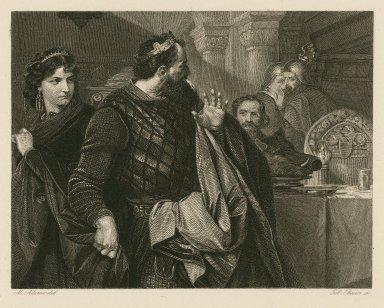[Macbeth, act III, scene 4] [graphic] / M. Adamo, del. ; Tob. Bauer, sc.