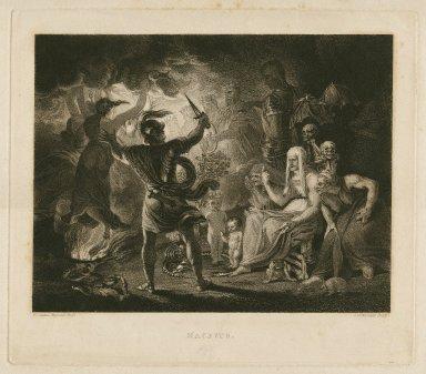 Macbeth, act IV, scene 1, a dark cave ... [graphic] / [Joshua Reynolds] ; engraved by S.W. Reynolds.
