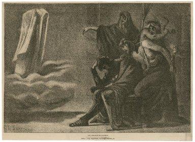 Les remords de Macbeth [Macbeth, act IV, scene 1] [graphic] / T. Veron ; Gillot.