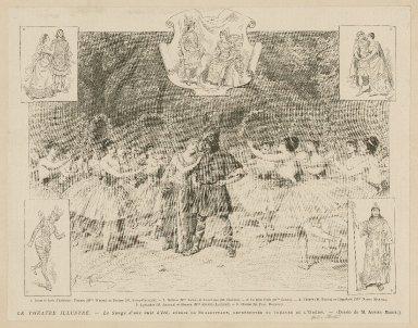Le Théatre illustré-- Le songe d'une nuit d'été [act IV, sc. 1] féerie de Shakespeare, représentée au théatre de l'Odéon [graphic] / Adrien Marie ; SGAP., sc.