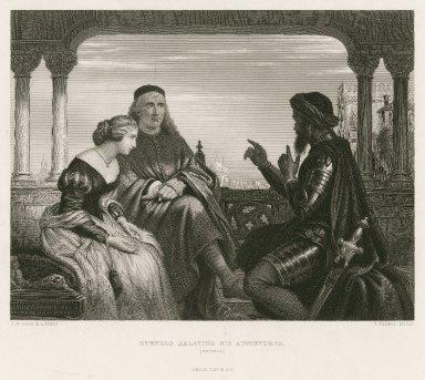 Othello relating his adventures, Othello [act I, sc. 3] [graphic] / C.W. Cope R.A., pinxt. ; T. Vernon, sculpt.