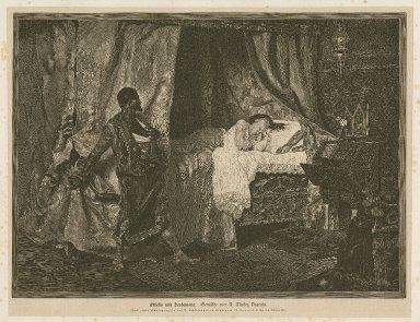 Othello und Desdemona, [act V, sc. 2] ... [graphic] / nach einer photographie bei B. Schlesinger in Stuttgart ; A Munoz Degrain ; A. Closs, sc.