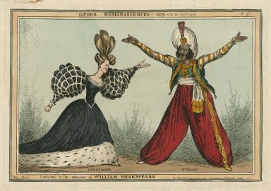 Opera reminiscences - 1829 - to be continued, Desdemona, Otello, dedicated to the admirers of William Shakspeare [graphic] / William Heath.