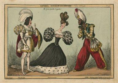 Opera reminiscences, Che fiero punto ée questo! Rodrigo, Desdemona, and Othello [graphic] / William Heath.