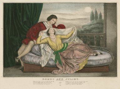 Romeo and Juliet: act 3rd, scene 5: Juliet: Wilt thou be gone! [graphic] / lith ... by N. Currier.