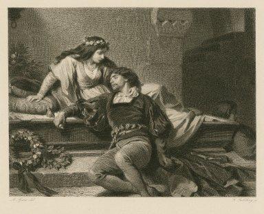 [Romeo & Juliet, act V, scene 3] [graphic] / A. Spiess, del. ; G. Goldberg, sc.