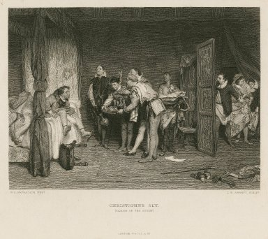 Christopher Sly (Taming of the shrew) [Induction, scene 2] [graphic] / W.Q. Orchardson, pinxt. ; C.W. Sharpe, sculpt.