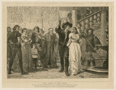 """The taming of the shrew: """"Fear not, ... """" [graphic] / from the picture by Frank W.W. Topham ; Froment."""