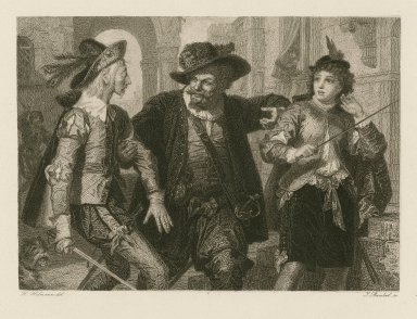 Was ihr wollt, Twelfth night [act III, sc. 4] [graphic] / H. Hofmann del. ; J. Bankel sc.