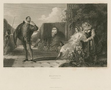 Malvolio (Twelfth night) act III, sc.4 [graphic] / D. Maclise.