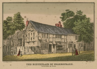 The birthplace of Shakespeare, Stratford on Avon [graphic] / Kellogg & Bulkeley.