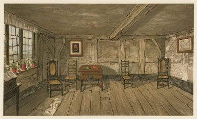 Room in which Shakespeare was born ... Stratford-on-Avon [graphic] / Ashbee & Dangerfield, chromo-lith.